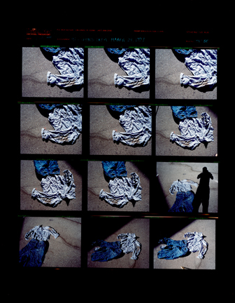John Trotter. My clothes from the attack, July 1999.