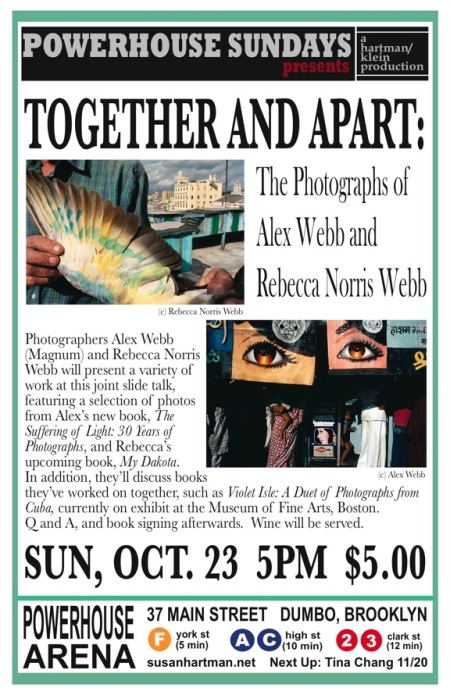 Rebecca Norris Webb and Alex Webb speak at PowerHouse in Brooklyn on Sunday, Oct. 23d, at 5pm