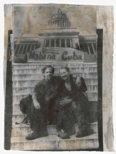 Portrait of Alex and Rebecca in Havana by Cuban Photographer