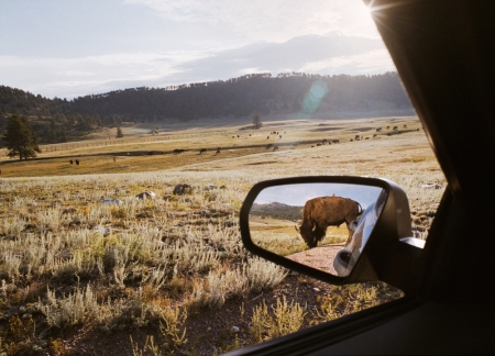 "©Rebecca Norris Webb, ""Rearview Mirror,"" from the book, ""My Dakota"""