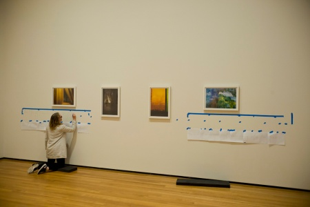 Cleveland Museum of Art.  Installation of Rebecca Norris Webb's My Dakota show